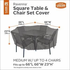 Hoes vierkante tuin of lounge set, 168 x 168 cm H:58 cm