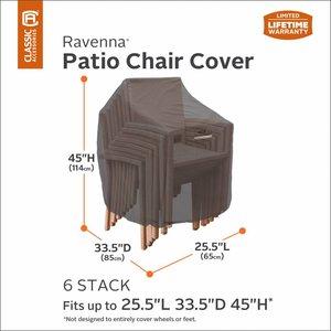 Hoes voor 4 of 6 stapelstoelen, 85 x 65 H: 14 cm