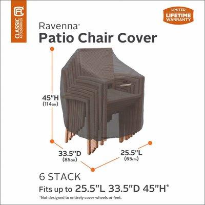 Hoes voor 4 of 6 stapelstoelen of voor verstelbare stoel met gasveer, 85 x 65 cm, Hoog: 114 cm