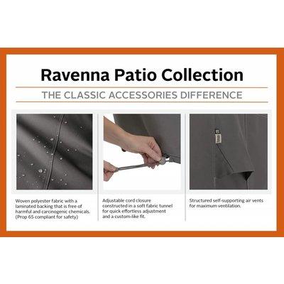 Ravenna, Classic Accessories Hoes voor tuinset, tuinmeubel hoes voor grote vierkante buiten tafel met 8 tuinstoelen,  249 x 249 cm Hoog: 58 cm