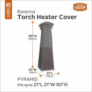 Hoes voor Terras Torch Heater, 229 cm hoog, 53 x 53 cm.
