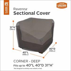 Hoes hoek lounge element, lounge corner cover, 102 x 102 cm