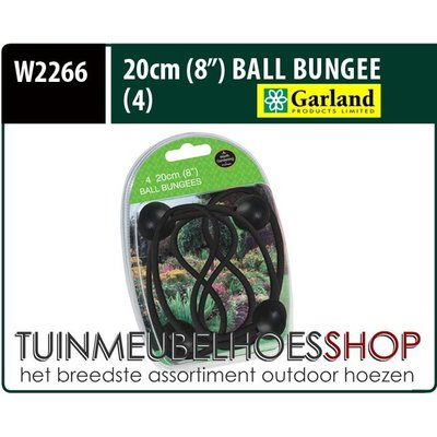 Garland Elastische spanners, Ball Bungees, lengte 20 cm, 4 stuks