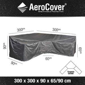 AeroCover Schutzabdeckung für ein Ecksofa dining model 300 x 300 H: 90/65 cm