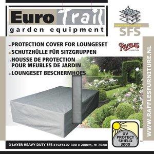 EuroTrail Abdeckhaube für Sitzgruppe Lounge Möbel 300 x 200 H: 70 cm