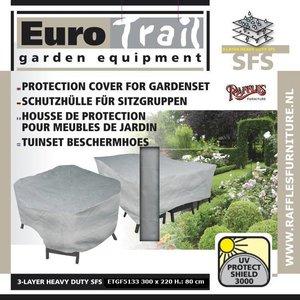 EuroTrail Wetterschutz für Gartenmöbel Sitzgruppe 300 x 175 H: 80 cm