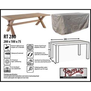 Raffles Covers Rechteckige Gartentisch abdeckhaube 280 x 100 cm