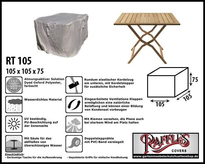 Raffles Covers RT105 Schutzhülle Für Quadratische Gartentisch, Passt Am  Besten Am Tisch Von Max.