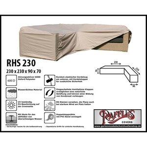 Raffles Covers Loungemöbel Abdeckhaube L-Form 230 x 230 x 90 H: 70 cm