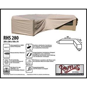 Raffles Covers Eck-Lounge-Hülle L-form 280 x 280 x 100 H: 70 cm