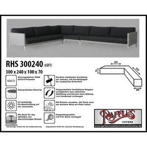 Raffles Covers Abdeckung für Lounge Eckset 300 x 240 x 100 H: 70 cm