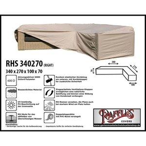 Raffles Covers Schutzhülle für L-FormEcklounge 340 x 270 x 100 H: 70 cm
