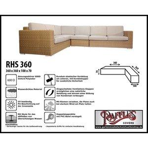 Raffles Covers Schutzhülle für Lounge L-Form 360 x 360 x 100 H: 70 cm