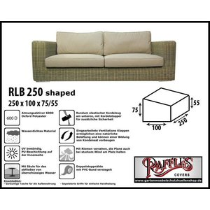 Raffles Covers Loungebank Abdeckhaube 250 x 100 H: 85/65 cm
