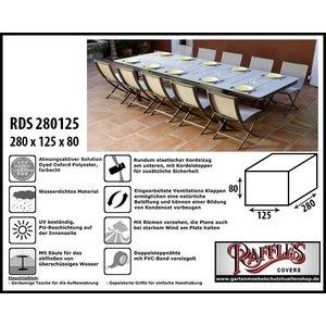 Raffles Covers Wetterschutz für Gartenmöbel-Set 280 x 125 H: 80 cm