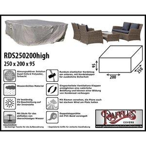 Raffles Covers Schutzhülle für Rattan Lounge Gartenmöbeln 250 x 200 H: 95 cm