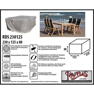 Raffles Covers Gartenmöbel-Set Abdeckung 230 x 125 H: 80 cm