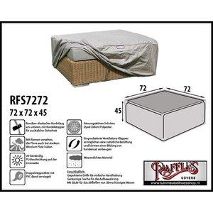 Raffles Covers Möbelabdeckung für quadratische Gartenottomane 72 x 72 H: 45 cm