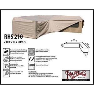 Raffles Covers Loungemöbel Abdeckschutz L-Form 210 x 210 H: 70 cm