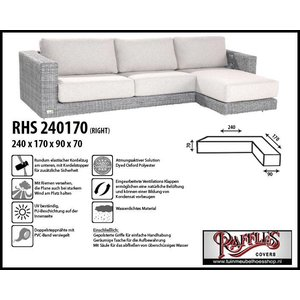 Raffles Covers Schutzhülle lounge sofa L-Form 240 x 170 x 90 H: 70 cm
