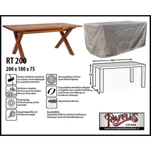 Raffles Covers RT200, 200 x 100 H: 75 cm, taupe