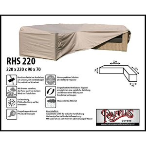 Raffles Covers RHS220, 220 x 220 x 90, H: 70 cm, taupe