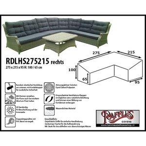 Raffles Covers Abdeckplane für Eck-Loungemöbel 275 x 215 x 95 H: 100/65 cm