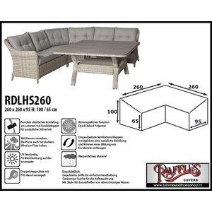 Raffles Covers RDLHS260, 260 x 260 x 95, H: 100 / 65 cm, taupe