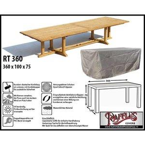 Raffles Covers Schutzhülle für rechteckige Gartentisch 360 x 100 H: 75 cm