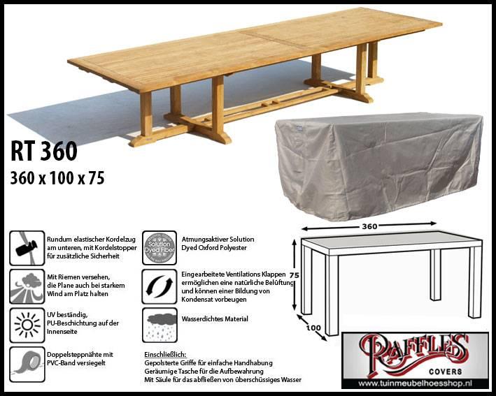 Schutzhulle Fur Rechteckige Gartentisch 360 X 100 Cm