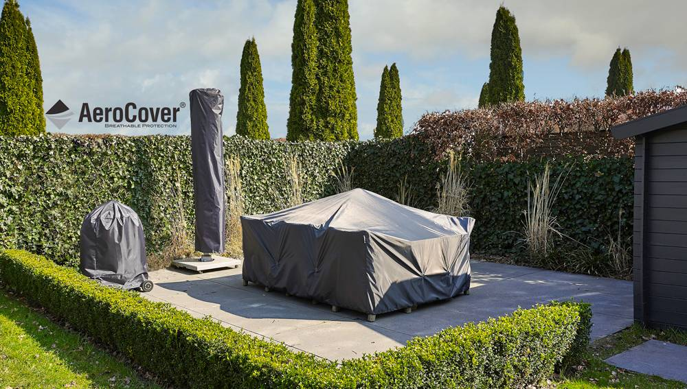 abdeckplane f r rechteckigen gartentisch von aerocover. Black Bedroom Furniture Sets. Home Design Ideas
