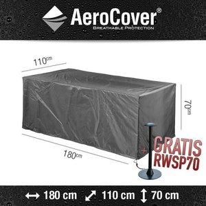 AeroCover Abdeckplane für rechteckigen Gartentisch,  180 x 110 H: 70 cm