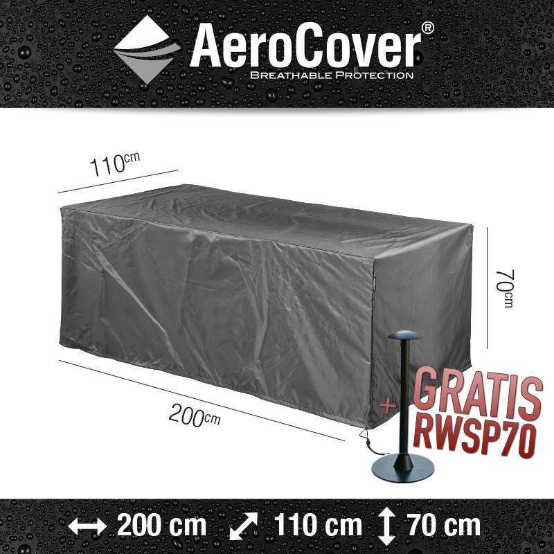 schutzhaube f r rechteckigen gartentisch von aerocover gartenmoebelschutzhuellenshop. Black Bedroom Furniture Sets. Home Design Ideas