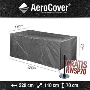 AeroCover Wetterhaube für rechteckigen Gartentisch,  220 x 110 H: 70 cm.
