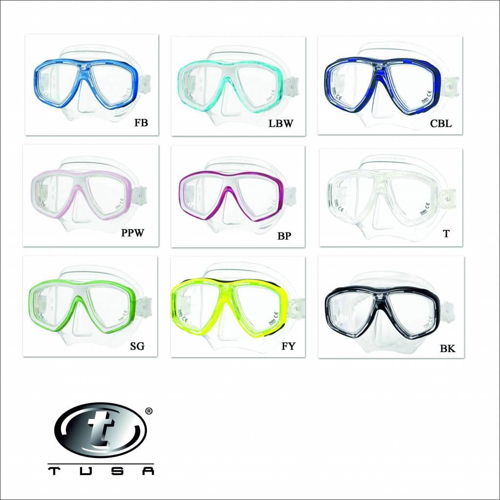 Duikbril voor optische glazen en Duikbril op sterkte, zowel bifocaal als bijziend en verziend.