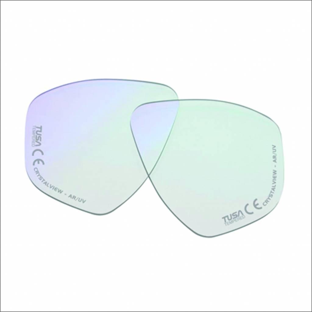 Optisch glas rechts voor duikbril op sterkte.