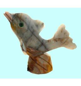 Delfin Welle Speckstein ca. 33 mm