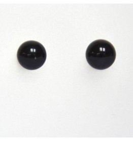 Ohrstecker Onyx 6 mm 925er Silber