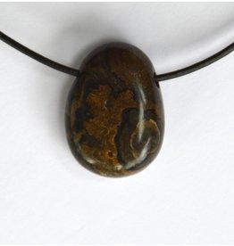 Stromatolith Trommelstein gebohrt