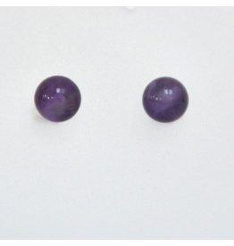 Ohrstecker Amethyst 6 mm 925er Silber
