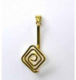 Donuthalter Quadrat goldfarben