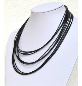 Lederbandkette schwarz Mehrstrang