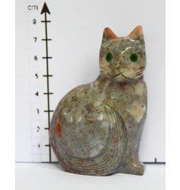 Katze Speckstein ca. 7 cm