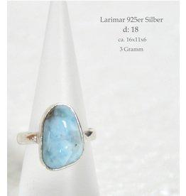 Silberring Larimar bis Größe 18