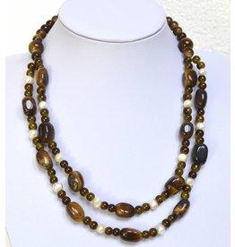 Halskette Mehrstrang Tigerauge
