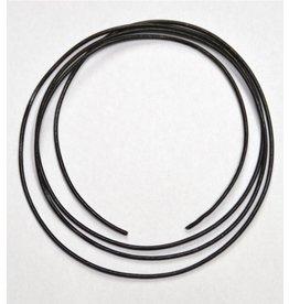 Lederband schwarz schmal einfach