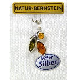 Bernsteinanhänger Herbstlaub klein