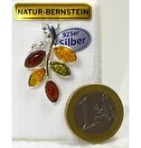 Bernsteinanhänger Herbstlaub groß  - mehrfarbiger Bernstein Anhänger