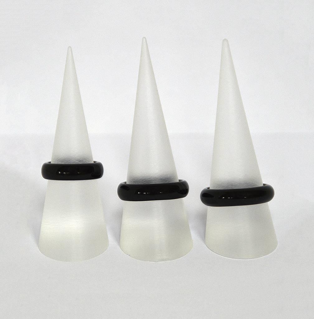 Ring Onyx - edler schwarzer Ring
