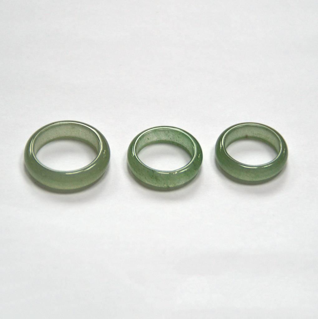 Ring Aventurin grün - massiver grüner Edelstein Ring